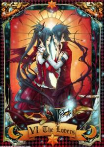 Kochankowie karta Tarota